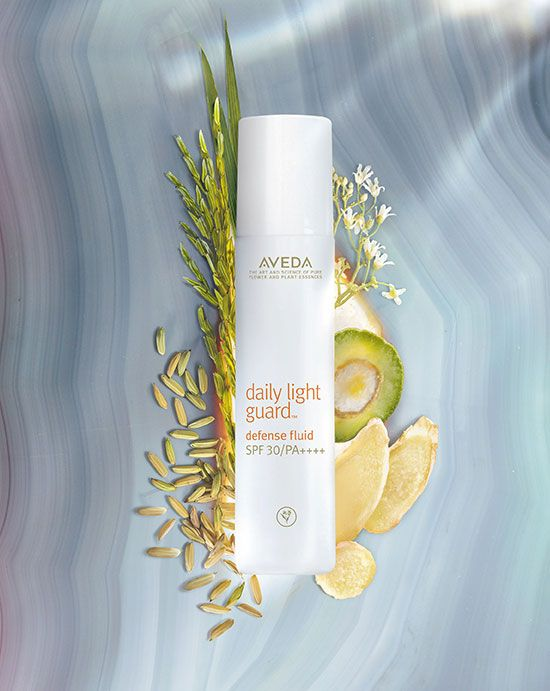 """AVEDA """" Daily Light guard Fluid SPF30″ Sunscreen emulsion derived from mineral"""