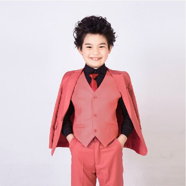 69.47$  Watch now - http://alitmj.worldwells.pw/go.php?t=32701343995 - 2016 fashion baby purple red casual blazers jackets boys suits for weddings formal flower boy clothing child kids prom suit