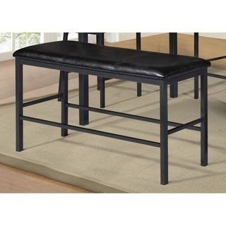 Shop for Best Quality Furniture Black Faux Leather Upholstered Counter Height Dining Bench. Get free shipping at Overstock.com - Your Online Furniture Outlet Store! Get 5% in rewards with Club O! - 24141490