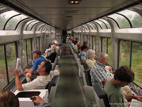 Panoramic Amtrak train, somewhere between Minot, ND and Chicago
