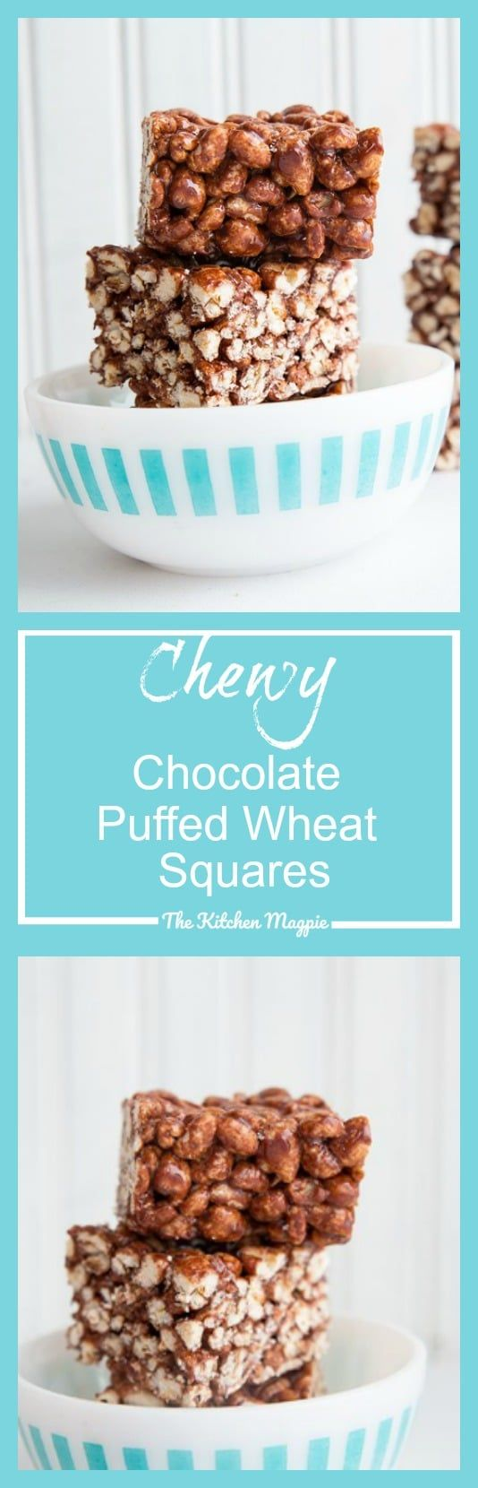 Chewy Chocolate Puffed Wheat Squares Recipe and Video - The Kitchen Magpie