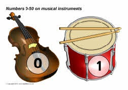 Numbers 0-50 on musical instruments (SB3047) - SparkleBox