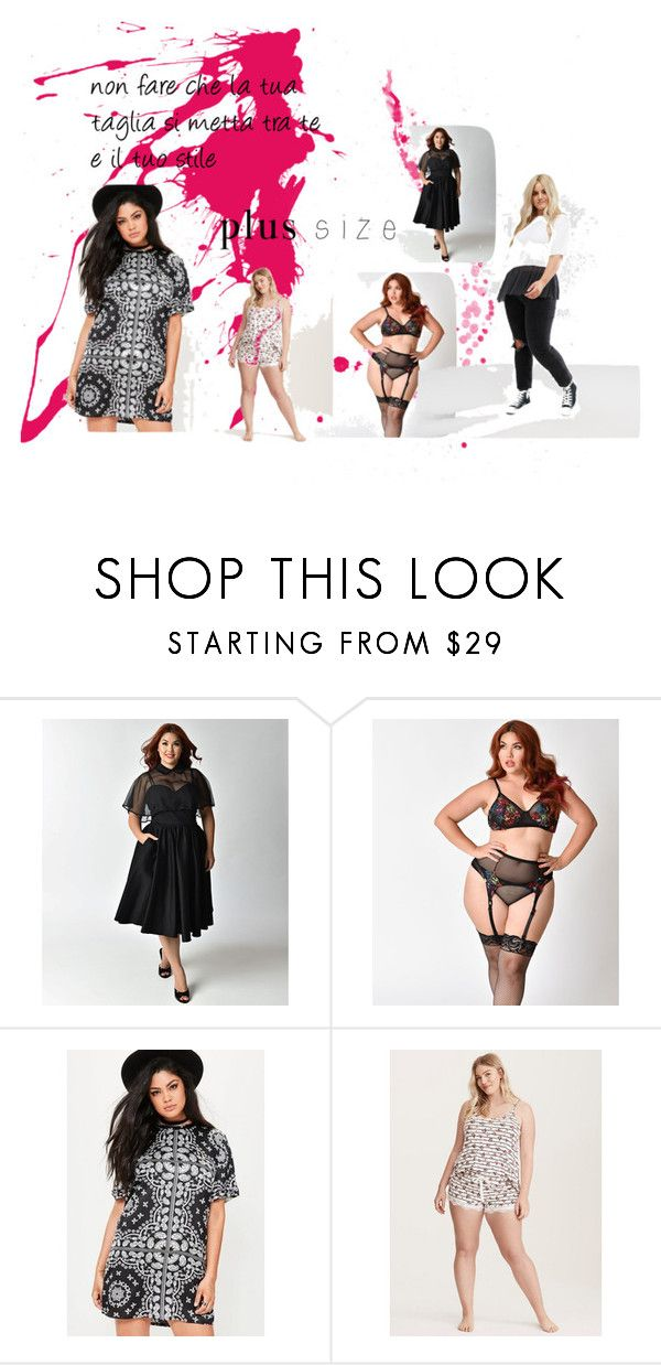 """""""plus size"""" by mariapizzuto on Polyvore featuring moda, Missguided, Torrid e plus size dresses"""
