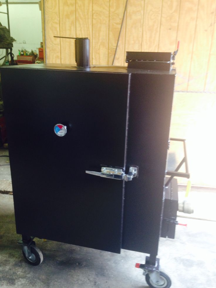 Gravity Fed Insulated Bbq Smoker Outdoor Smoker Bbq
