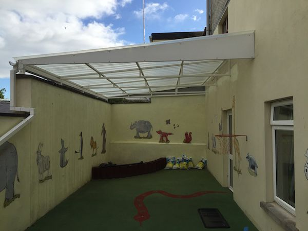 School Play Area Canopies, Patio Canopies & Domestic Walkways : Morrow Log Cabins, Sectional Buildings & Canopies, Co Fermanagh, Northern Ireland