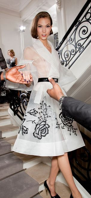 Christian Dior spring 2012 haute couture backstage Karlie Kloss is queen