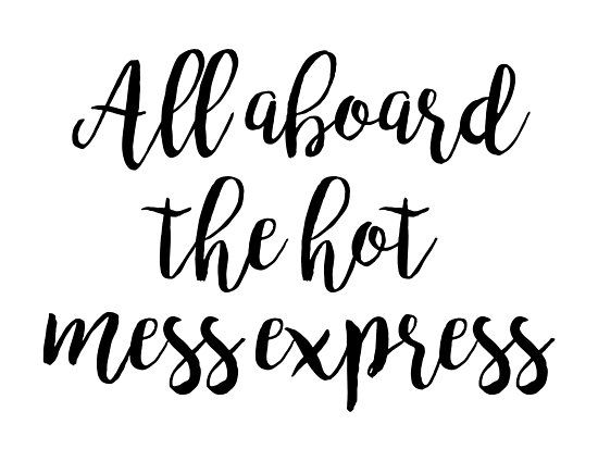 Funny quotes - All aboard the hot mess express