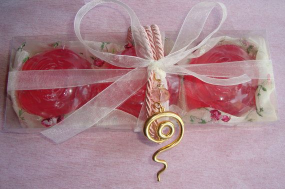 Pink Roses  Elegant Gift Set for Women with by JoannasScentedSoaps