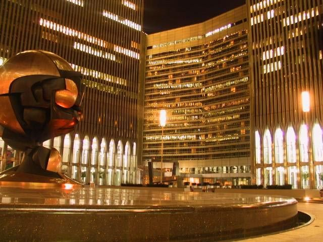 World Trade Center Plaza at Night