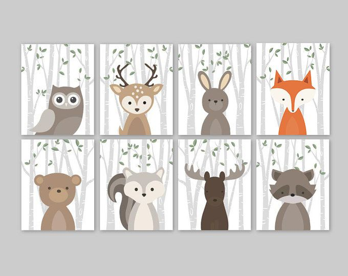 Woodland Friends Birthday Invitation forest animal birthday