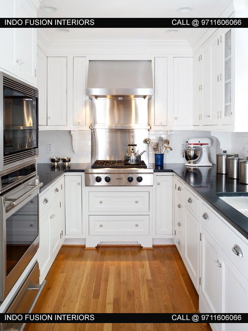 U Shaped Modular Kitchen Design By Indo Fusion Interiors Pvt Ltd.
