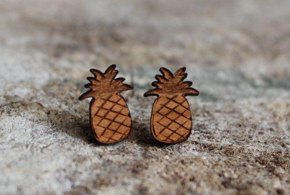 Boucles d'oreilles en bois par creationjuliedupont