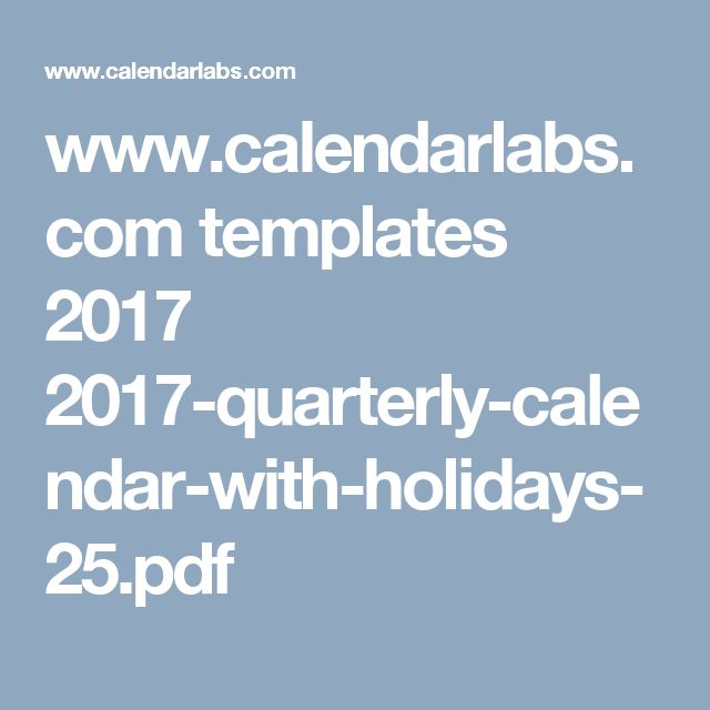 Best  Quarterly Calendar Ideas That You Will Like On
