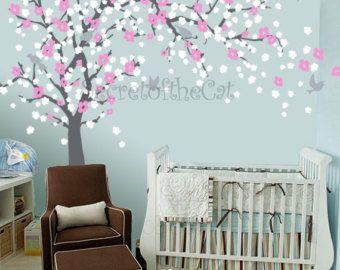 Kindergarten Wall Decal Blossom Baum Aufkleber Baby Baum