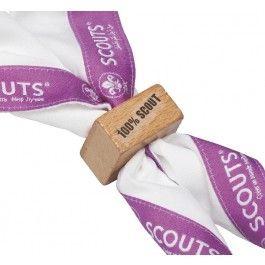 100% SCOUT wooden woggle  Scouting Netherlands- https://www.scoutshop.nl
