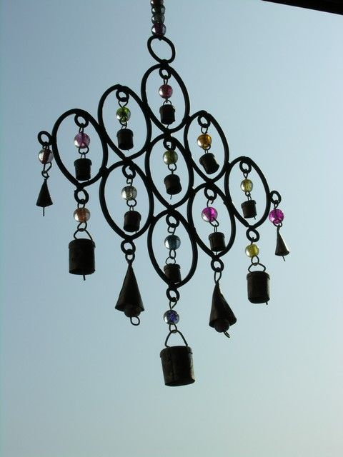 Small iron and brass multi bell chime. http://www.maroque.co.uk/showitem.aspx?id=ENT05396&p=06506&n=all