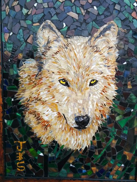 wolf mosaic, 2014 by Joseph And Sons Mosaics - Mosaic Artworks