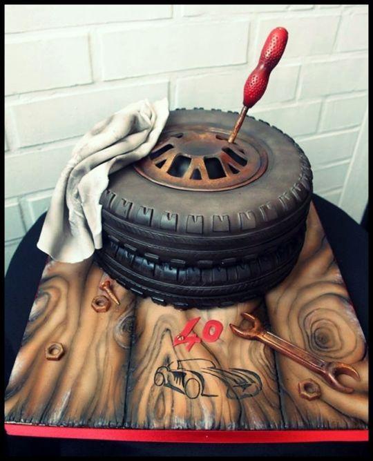 wheel cake