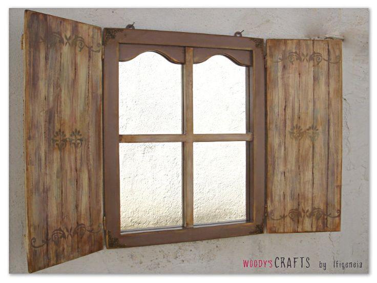 Ξύλινος χειροποίητος καθρέφτης   Decoupage Art   Διακοσμητικά Τοίχου   Περισσότερα στη διεύθυνση: http://j.mp/woodys-crafts-xeiropoiitoi-kathreftes