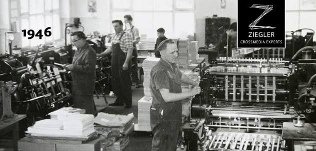 1946 - Gustav Strein kauft zusammen mit Carl Ludwig Ziegler jun. die erste Heidelberger Tiegeldruckpresse