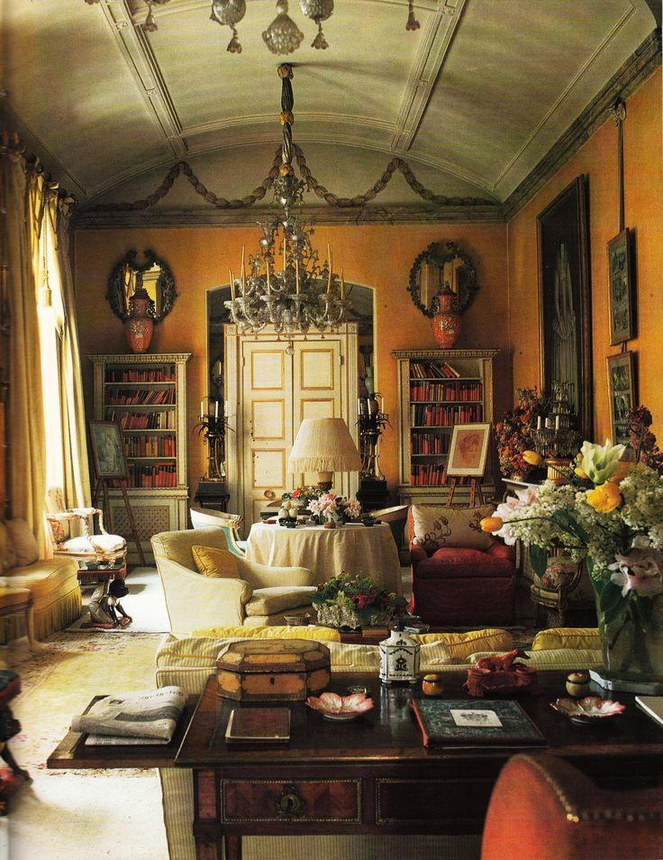 ~Nancy Lancaster's London Drawing Room -John Fowler of Colefax and Fowler