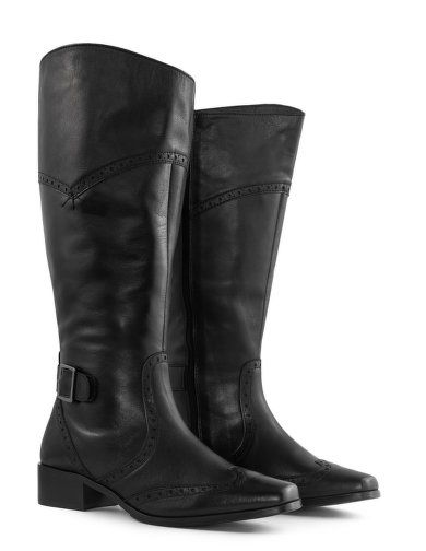 Punched calfskin boots  by Jilsen Quality Boots. Shop now: http://www.navabi.us/boots-jilsen-quality-boots-punched-calfskin-boots-black-21966-2400.html?utm_source=pinterest&utm_medium=social-media&utm_campaign=pin-it