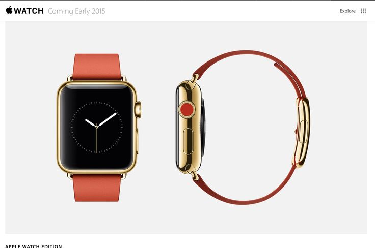 Love this color...The iPhone Watch... Special Edition...Coming 2015