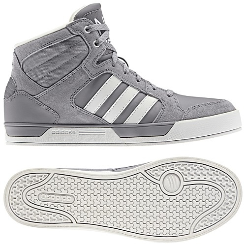 grey and white adidas high tops