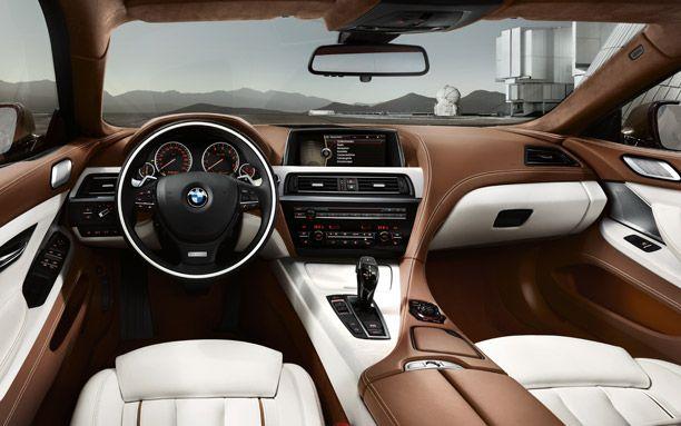 BMW 6-series interior.