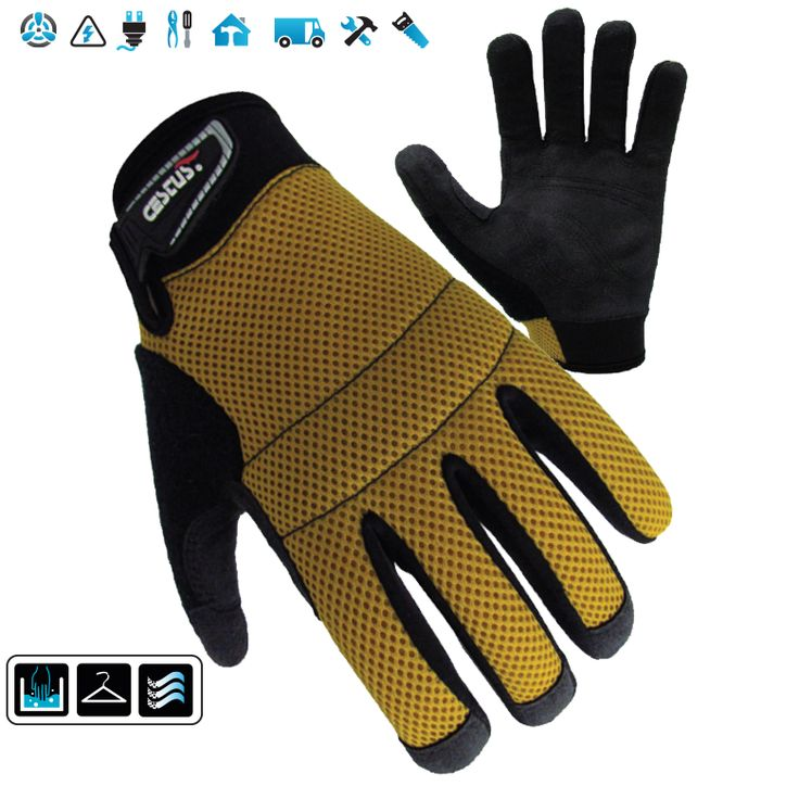 EZ Mesh: Vented mesh backed, lightweight glove with light knuckle padding. Features a snug, breathable fit, and reinforced palm stitching for added durability. Reinforced fingertips on thumb, index, and middle.