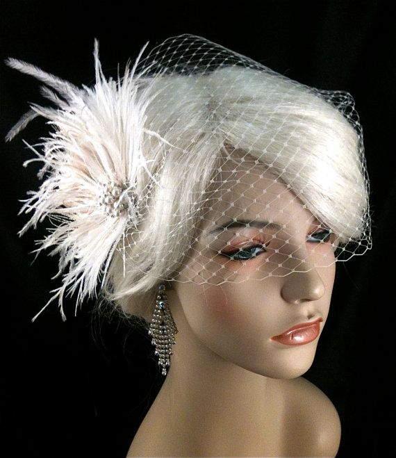Wedding Bridal Fascinator Bridal Fascinator by IceGreenEyes, $69.00