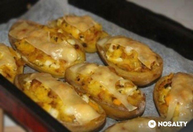 Töltött krumpli 3. - tojásos-gombás