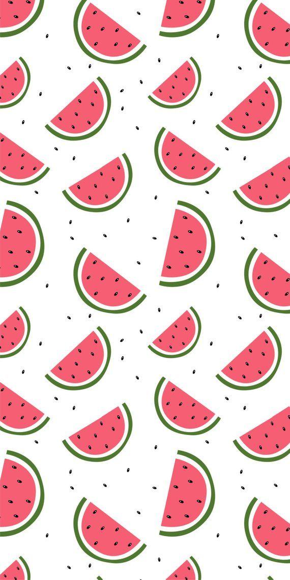 Self-adhesive Removable Wallpaper, Watermelon Delight Wallpaper, Peel and Stick Repositional Fabric Wallpaper, Custom Design Wall Mural