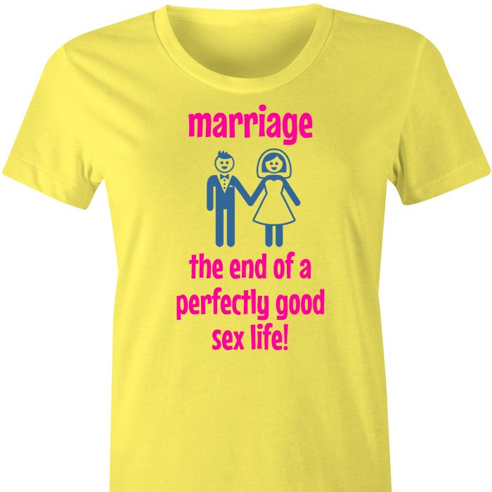 Marriage The End of ... T Shirt or Singlet