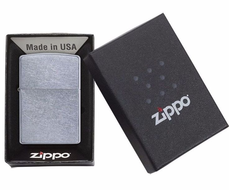 Zippo Lighter Regular Street Chrome #207 Genuine Windproof Pocket Lighter USA #Zippo