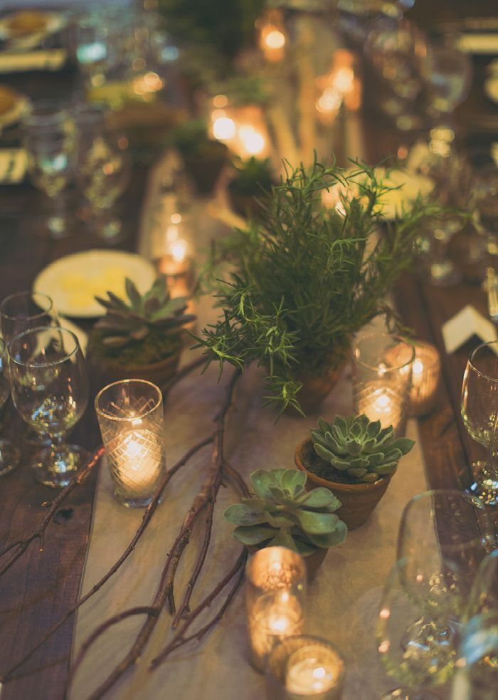table lighting-- I like the burlap look... may be a little tooooo rustic? I don't know!