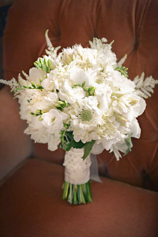 45 All White Wedding Bouquets Inspiration Perfect Petals Pinterest Flowers And