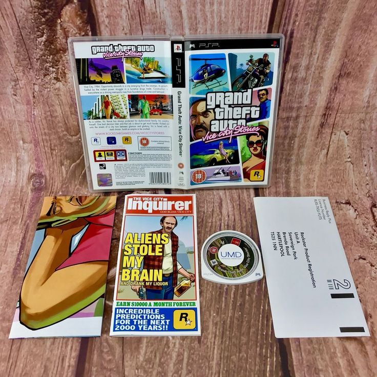 Sony PSP Game Grand Theft Auto Vice City Stories Boxed with Manual and Map 18+