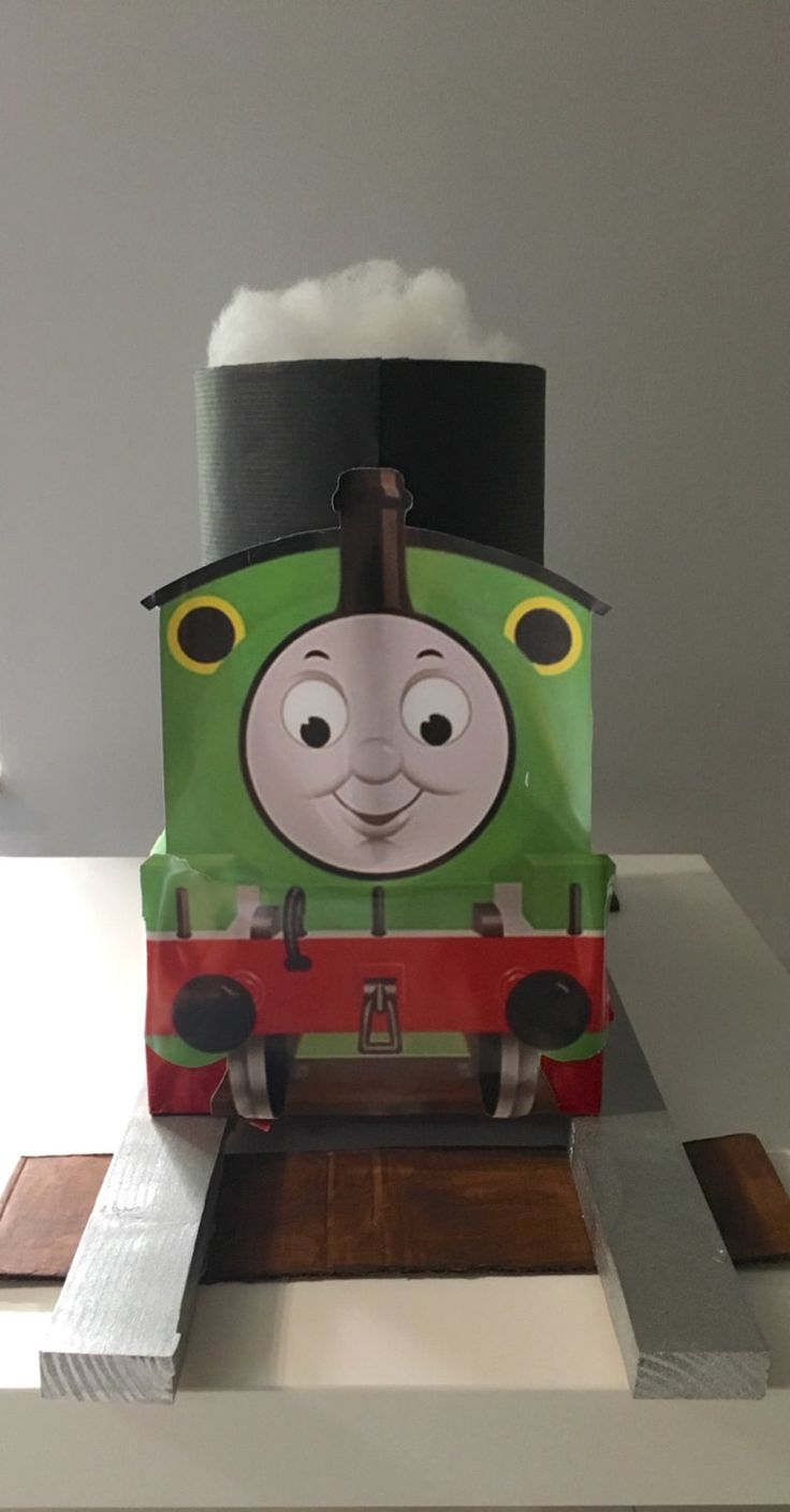 Thomas The Train Percy Centerpiece With Tracks By PartyTimeMiami On Etsy 4th BirthdayBirthday PartiesCenterpiecesTrainBirthday