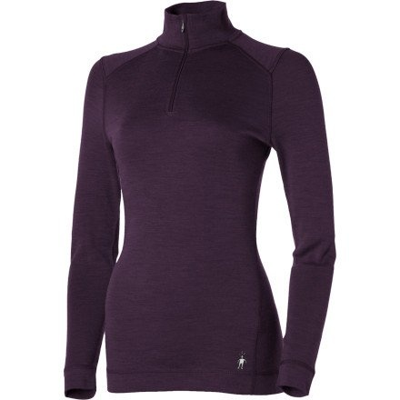 Smartwool Women's Midweight Zip T, Deep Purple Heather size M.    List Price:$90.00  Buy New:$53.97  You Save:40%  Deal by: AthleticClothingShop.com