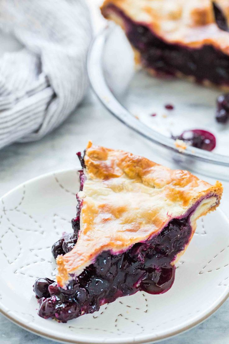 Simple, classic blueberry pie! With a homemade crust. Perfect for the summer blueberry season.