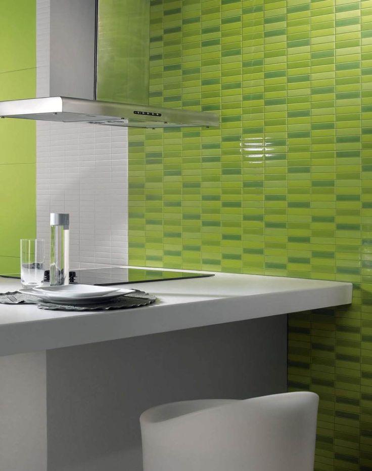 illusion revigres in this kitchen design we present the illusion clorofila wall design