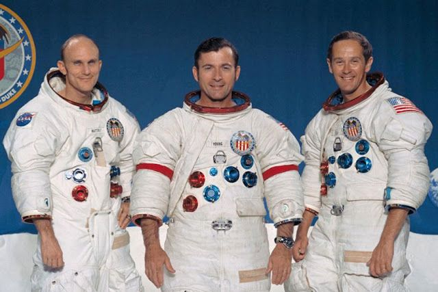 Apollo 16 crew in 1972.: 26 Amazing Photos That Left a Huge Mark in History. You Have To See This!