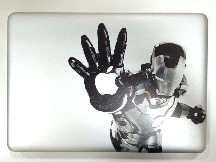 Direct UV print on MacBook Pro. No sticker. Ironman. Roland LEF-20 Versa