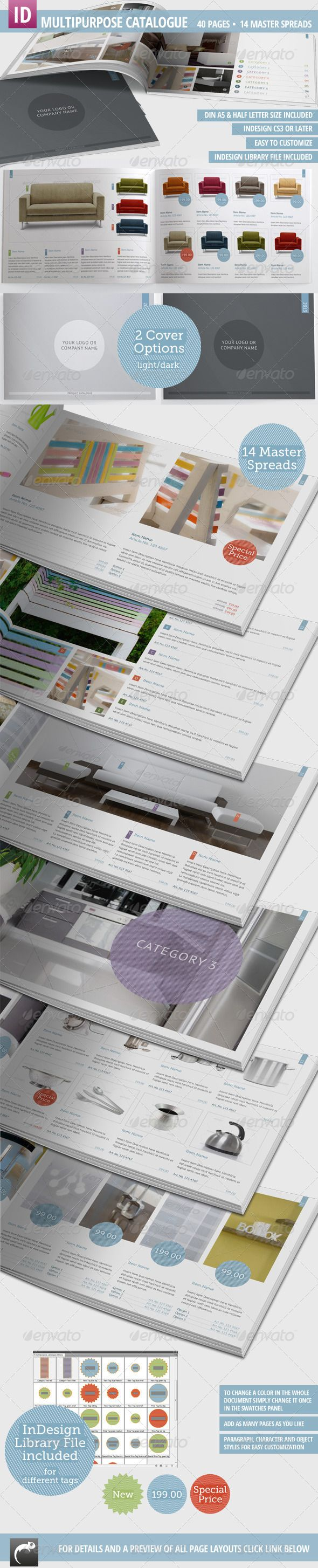 Print Templates - Multipurpose Product Catalogue - 40 Pages | GraphicRiver