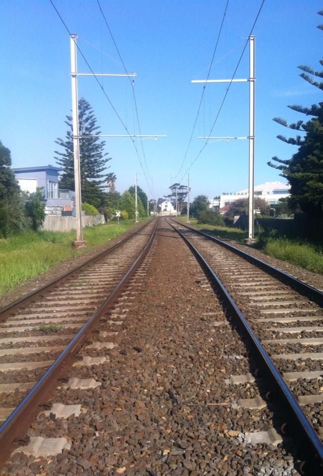 Railway tracks, Summer in Hampton, Victoria