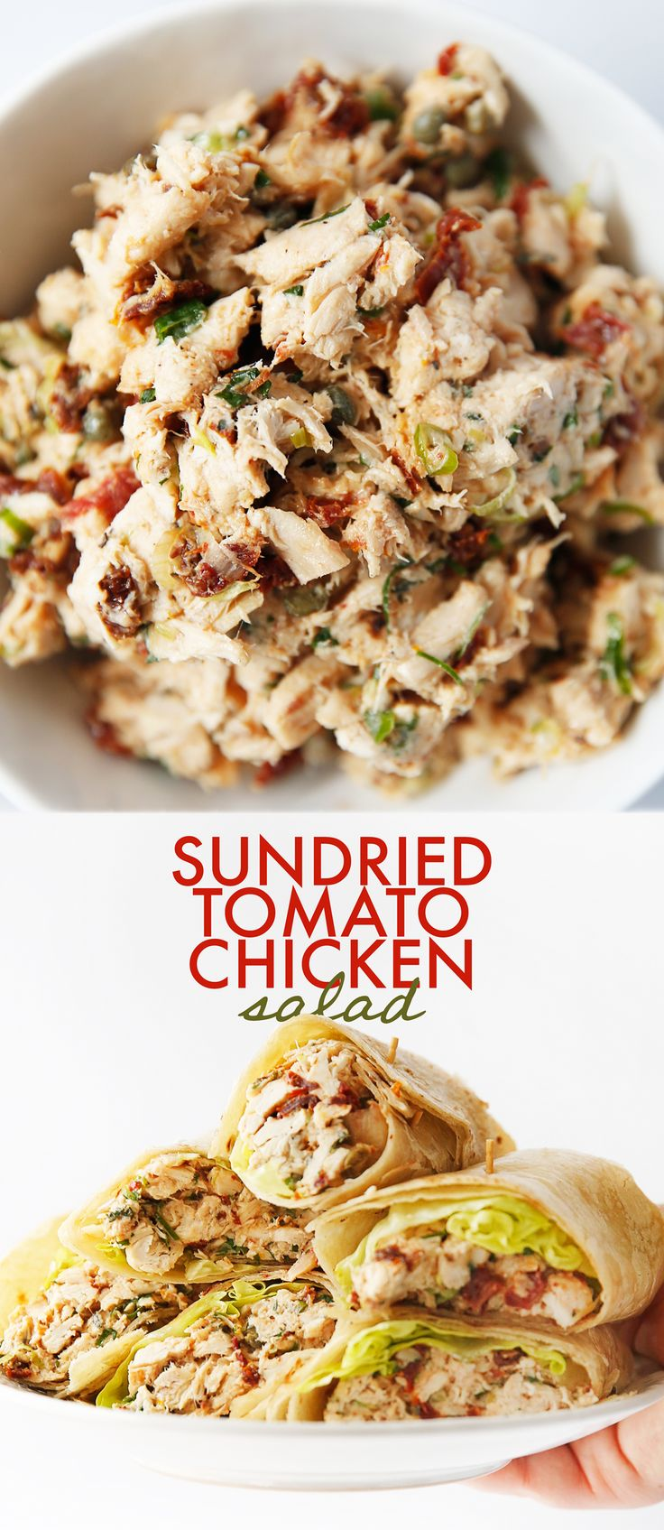 Sun-Dried Tomato Chicken Salad – Lexi's Clean Kitchen #lunch #chicken #salad