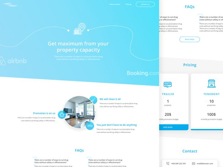 Rent&Relax Landing Page Proposal