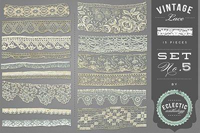 Vintage Lace Graphic Embellishments 5-vintage, lace, graphics, digital, royalty, free, commercial, use, textile, scrapbook