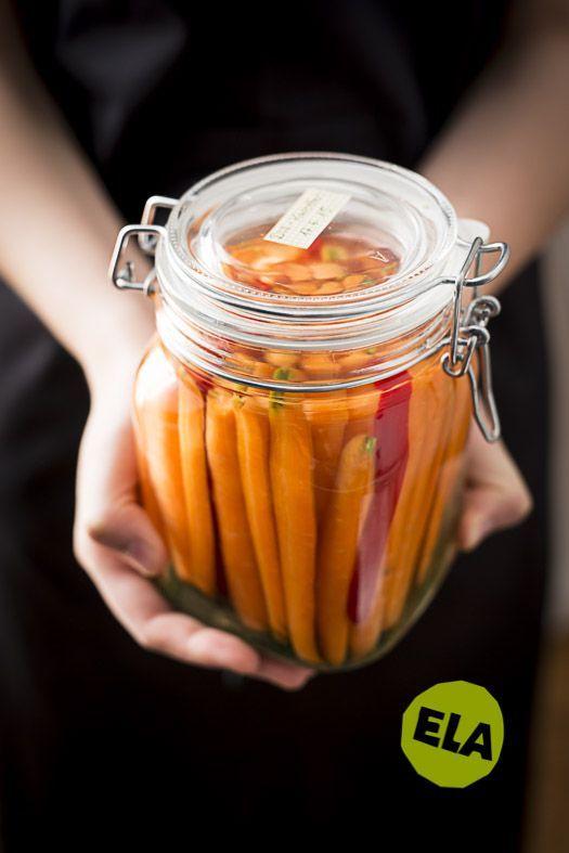 Fermentierte Karotten sind ein schnelles Anfänger Ferment. Ich habe sie nach Isa´s Rezept mit Dill und Knoblauch fermentiert. Nichts für schwache Nerven!